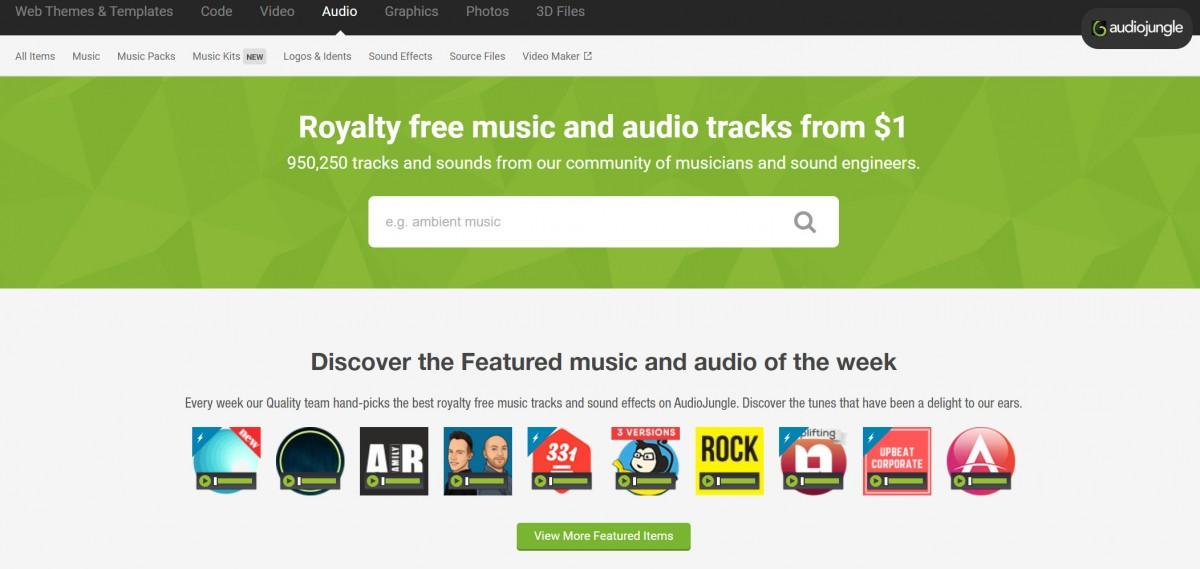 Hier vind je de beste rechtenvrije muziek voor jouw social media video - audiojungle