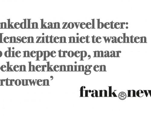 Interview op frank.news over gebruik LinkedIn bedrijven