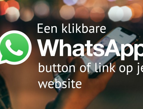 Een klikbare Whatsapp button of link op je website