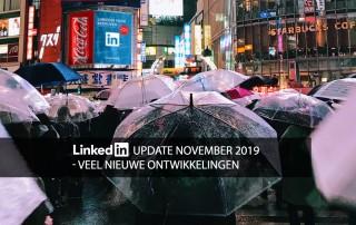 Laatste ontwikkelingen LinkedIn