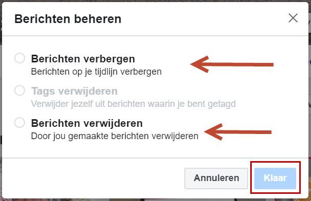 Hoe verwijder je in een keer meerdere berichten van Facebook?