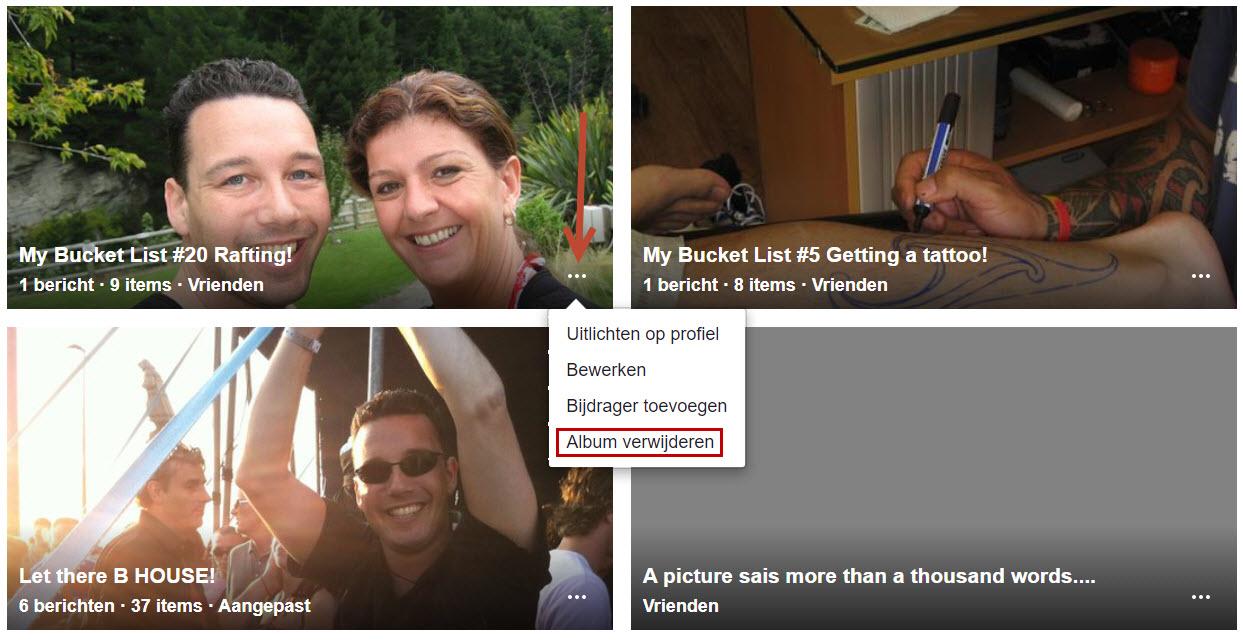 Hoe verwijder je een foto album van Facebook?