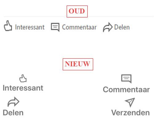 update delen op LinkedIn