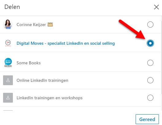 hoe deel je update op linkedin bedrijfspagina