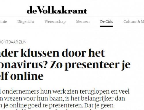 Interview Volkskrant en Intermediair over online activiteiten in Corona tijd