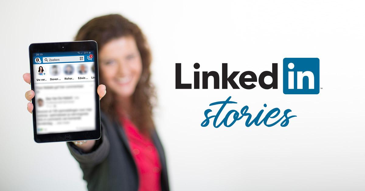 wat is een linkedin story