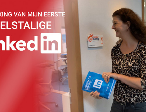 Uitreiking van mijn 1e Engelse boek 'LinkedIn for Business – Mastering the Art of Social Branding'