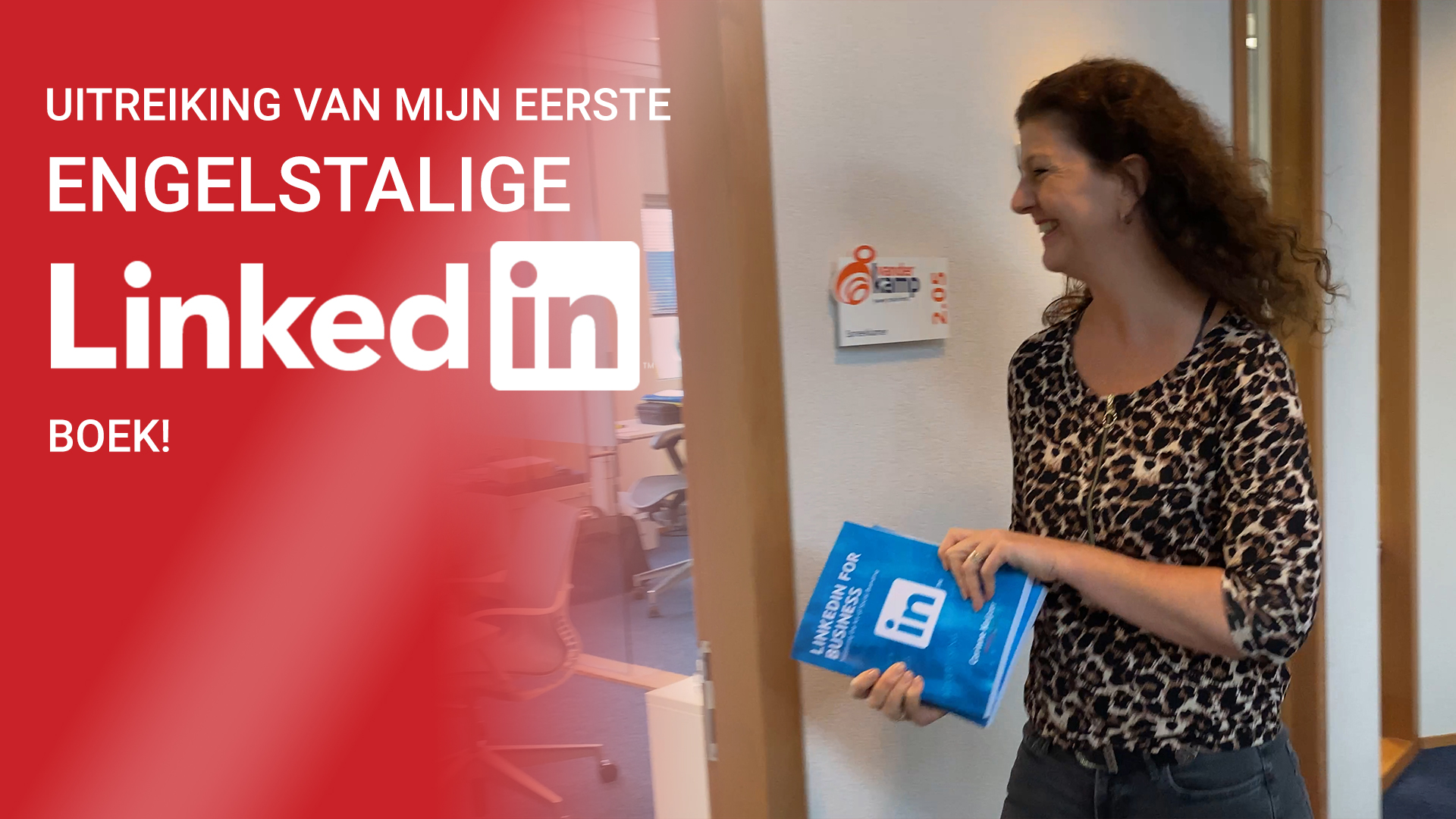 "Uitreiking van mijn 1e Engelse boek ""LinkedIn for Business - Mastering the Art of Social Branding"""