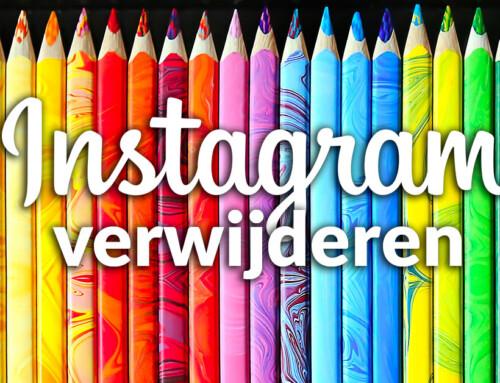 Je Instagram account verwijderen – hier een makkelijke uitleg