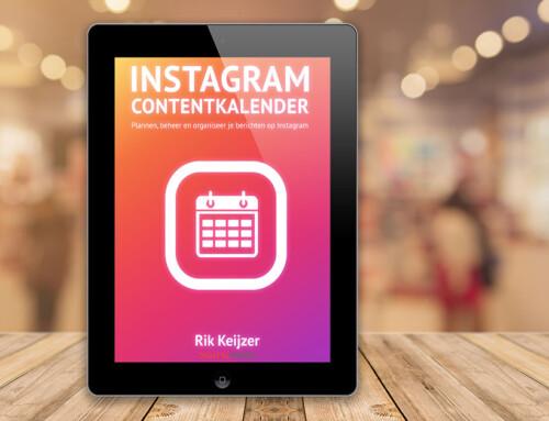 Handige Instagram Contentkalender – Download hier gratis